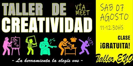 TALLER DE CREATIVIDAD boletos