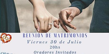 Reunión Matrimonios Cita Ruta 20 entradas