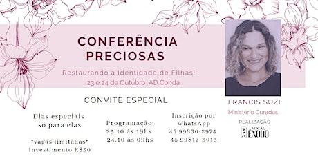 Conferência Preciosas ingressos