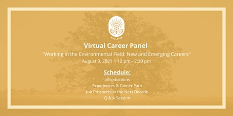 """Career Panel """"Working in the Environmental Field: New and Emerging Careers"""" tickets"""