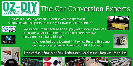 """OzDIY Electric Vehicles presents """"How to build your own Electric Vehicle"""" tickets"""