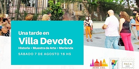 Una tarde en Villa Devoto: Historia + Muestra de Arte + Merienda entradas