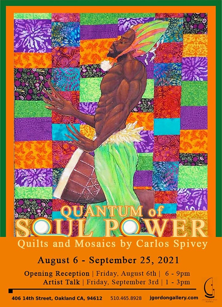 Quantum of Soul Power: Quilts and Mosaics by Carlos Spivey - FREE EVENT image