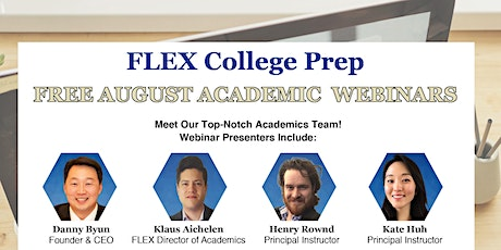 FREE August Academic Webinar: SAT and AP Preparation for College Admissions tickets