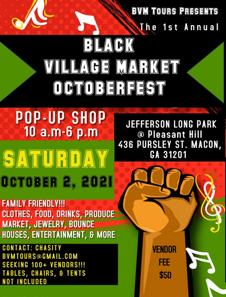 Black Village Market OctoberFest image
