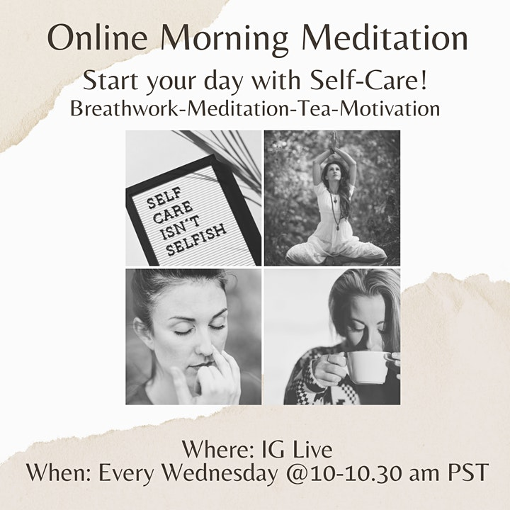 Morning Meditation - Guided and Live image