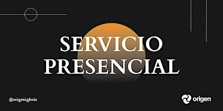 Servicio Presencial 01/08 [5:30pm] entradas