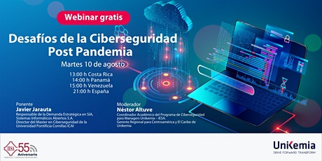 Webinar: Desafíos de la Ciberseguridad Post Pandemia boletos