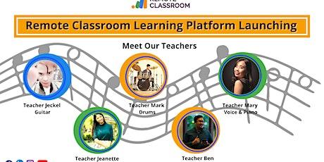 Meet Remote Classroom Teachers: Learning Platform Launching tickets