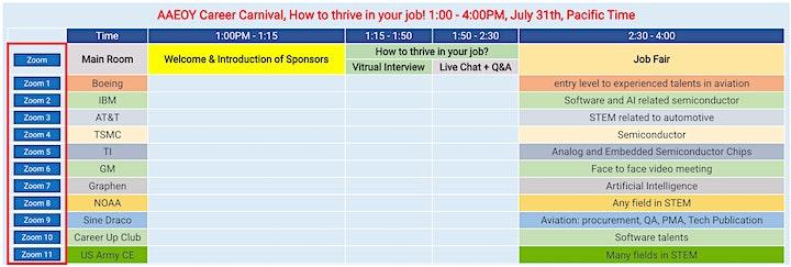 AAEOY Career Carnival (including job fair) image