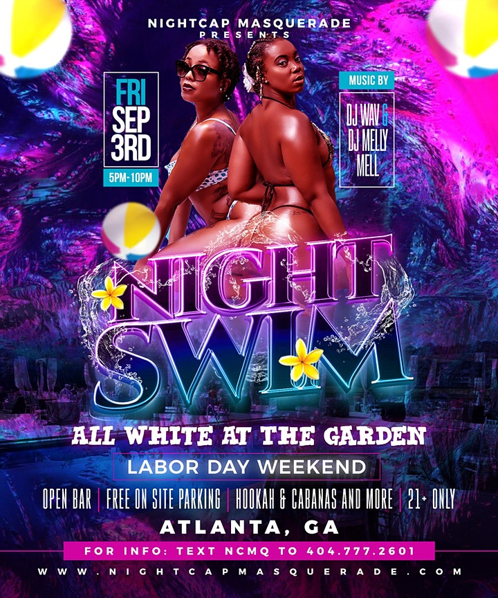 Night Swim ATL : All White Party (Open Bar) 9/3 Labor Day Weekend image