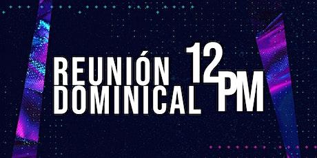 Reunión dominical - segunda sesión - 1 de agosto de 2021 boletos