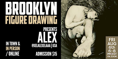 Brooklyn Figure Drawing Tuesday Zoom Session Tickets  - Alex tickets