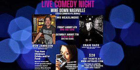 Wine Down presents comedians Craig Gass, Don Jamieson & Courtney Cronin tickets