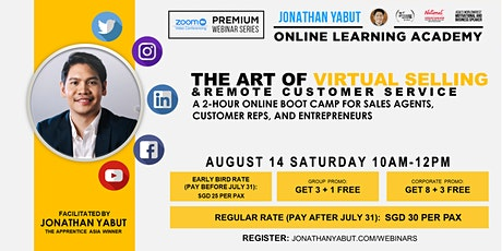 Copy of The  Art of Virtual Selling & Remote Customer Service tickets