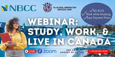 FREE WEBINAR: STUDY, WORK, AND LIVE IN CANADA WITH NEW BRUNSWICK COLLEGE tickets