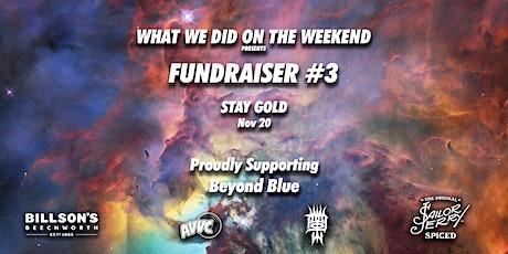 WWDOTW Fundraiser 3 tickets
