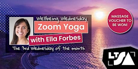 LTSA Wednesday Wellness   Zoom Yoga - October tickets