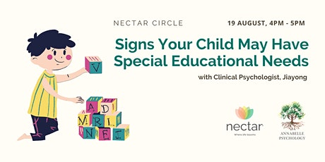 Signs Your Child May Have Special Educational Needs tickets