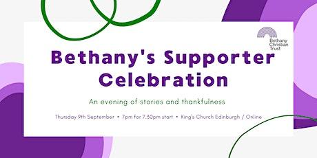 Bethany's Supporter Celebration billets
