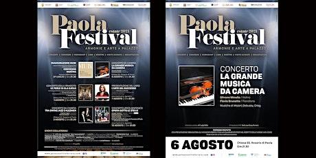 Paola Festival-CONCERTO DEL DUO MINELLA/BRUNETTO (violino/pianoforte) biglietti