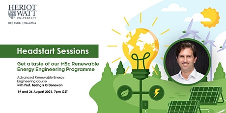 Advanced Renewable Energy Engineering Head-Start Sessions tickets