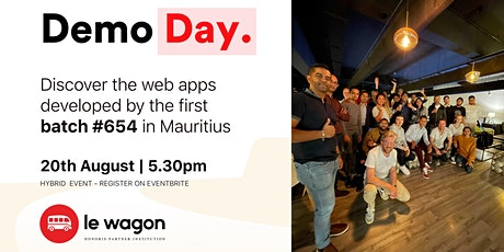[DEMO DAY - LE WAGON] - Mauritius Demo Day - Batch #654 tickets