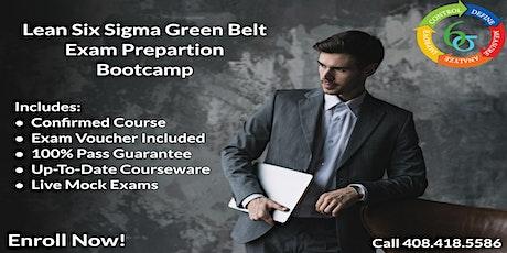 10/25  Lean Six Sigma Green Belt certification training in Boston tickets