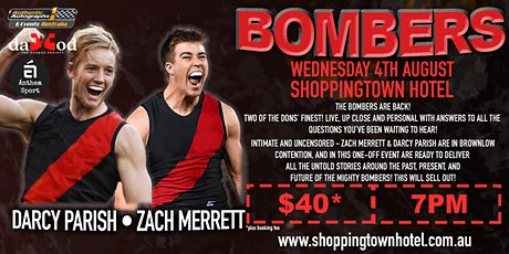 Darcy Parish & Zach Merrett BOMBERS LIVE at the Shoppingtown Hotel! tickets