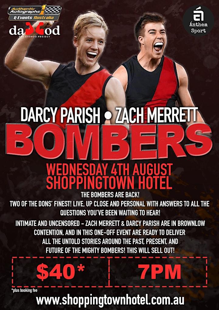 Darcy Parish & Zach Merrett BOMBERS LIVE at the Shoppingtown Hotel! image