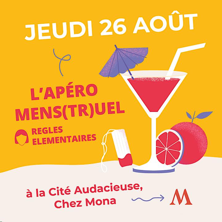 Image pour Apéro Mens(tr)uel - 26 août 2021 - 19h @Cité Audacieuse