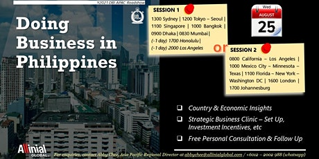 Doing Business in Philippines tickets