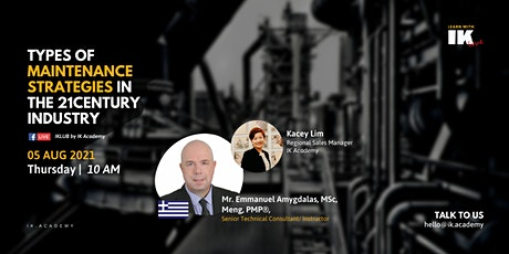 Types of Maintenance Strategies in the 21century Industry! tickets