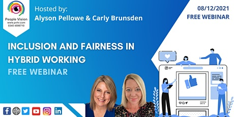 Webinar: Inclusion and Fairness in Hybrid Working tickets