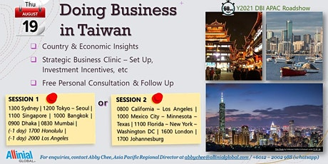 Doing Business in Taiwan tickets
