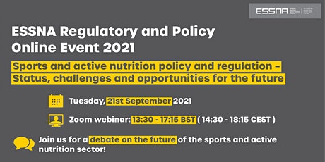 Shaping the future of sports and active nutrition policy and regulation tickets