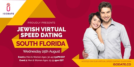 Isodate's South Florida Jewish Virtual Speed Dating - Swipe Less, Date More tickets
