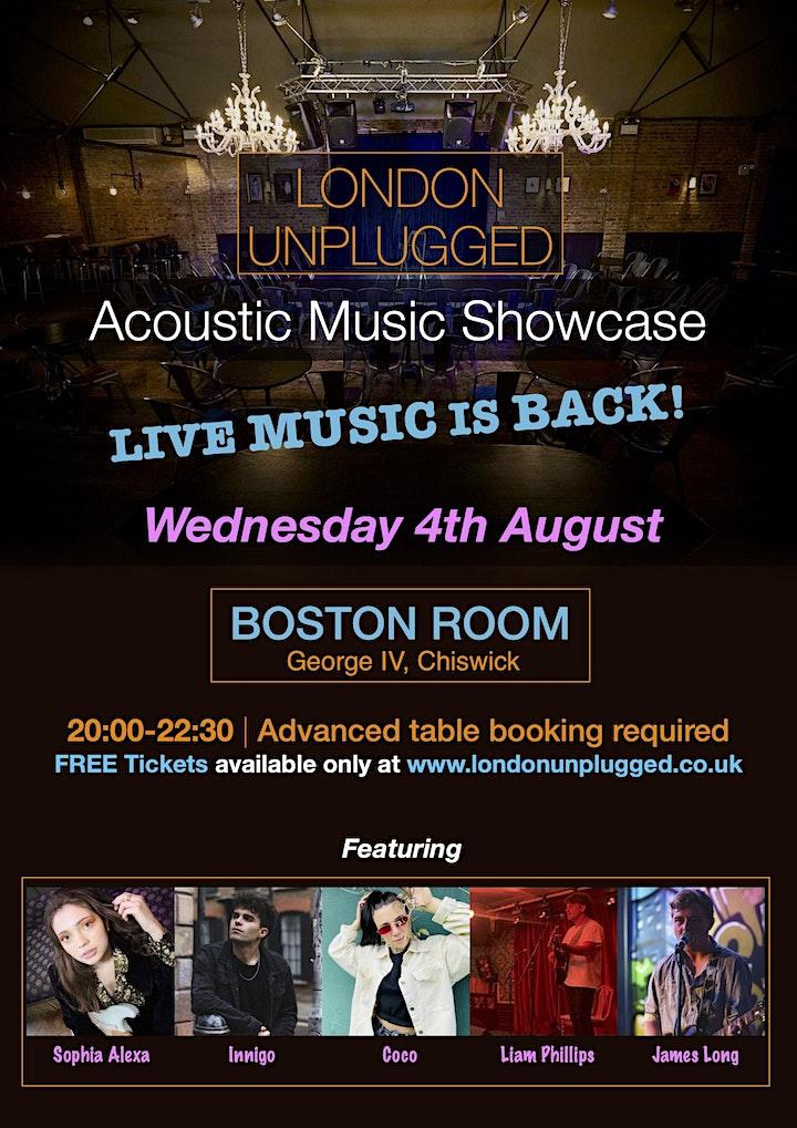 London Unplugged SHOWCASE 04.08.2021 image