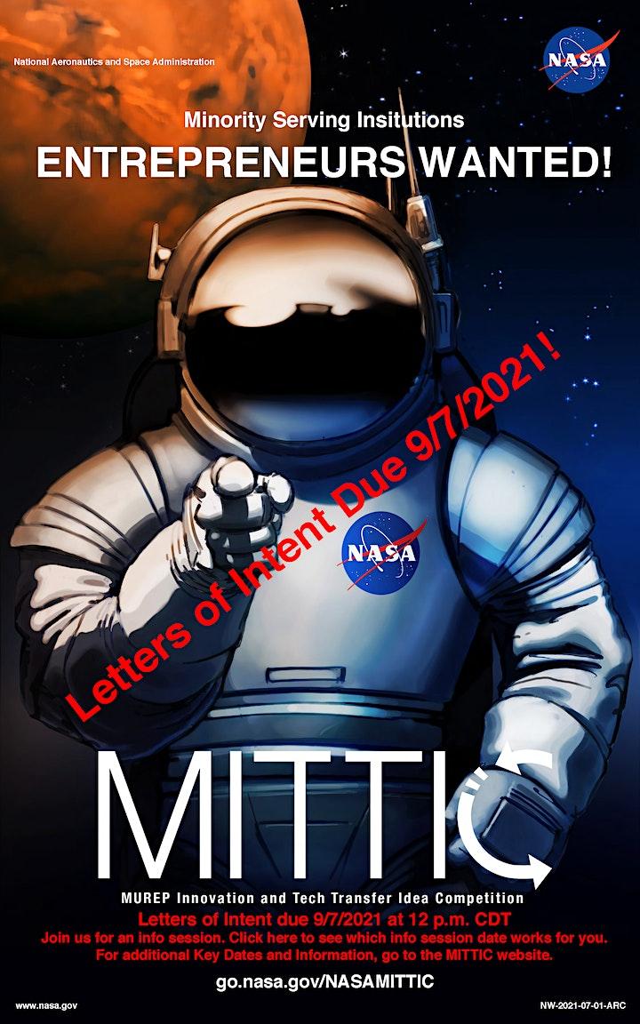NASA MITTIC 2022 Information Sessions image