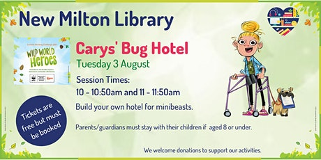 Cary's Bug Hotel at New Milton Library tickets