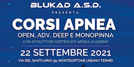 Apnea Blukad - Presentazione CORSI APNEA 2021 / 20 biglietti