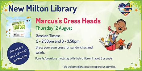 Marcus's Cress Heads at New Milton Library tickets