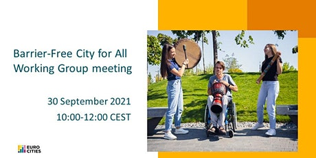 Barrier-free City for All Working Group meeting tickets