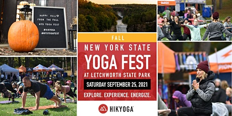 3rd Annual Fall NYS Yoga Festival at Letchworth State Park tickets