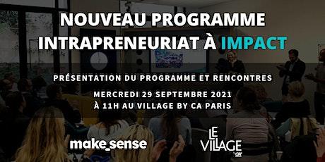 Réunion d'information : nouveau programme d'intrapreneuriat à Impact tickets