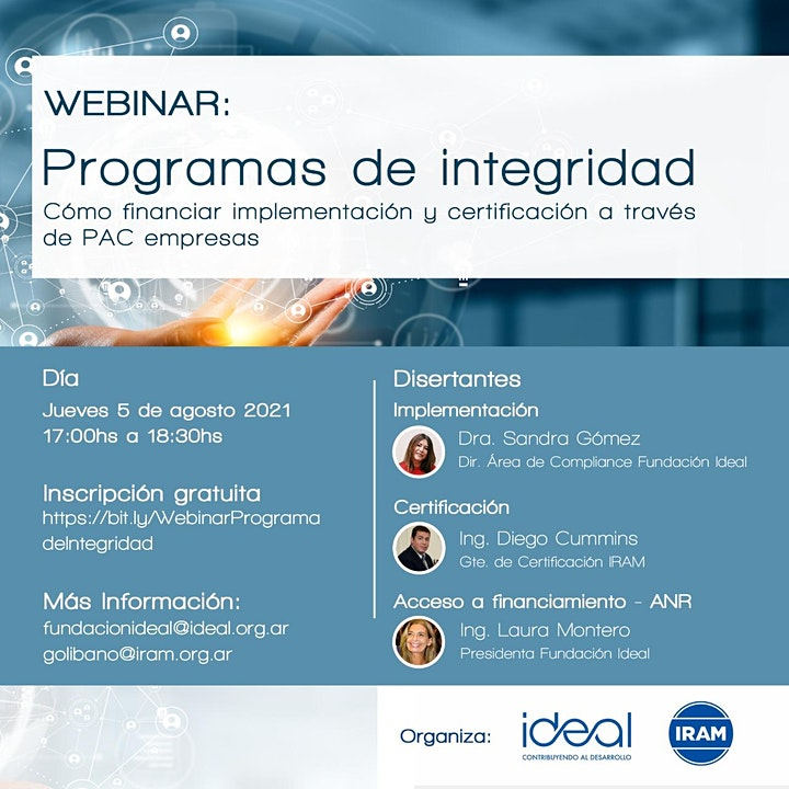 Imagen de Webinar: Programas de Integridad