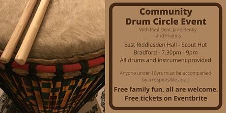 Community Drum Circle Event with Paul Dear - East Riddlesden Hall Scout Hut tickets