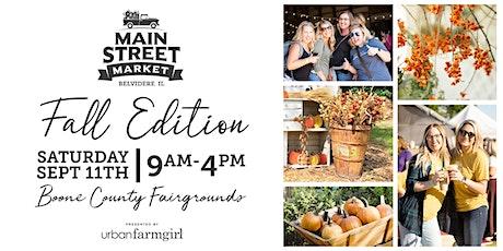 Urban Farmgirl's Main Street Market - September 11, 2021 tickets