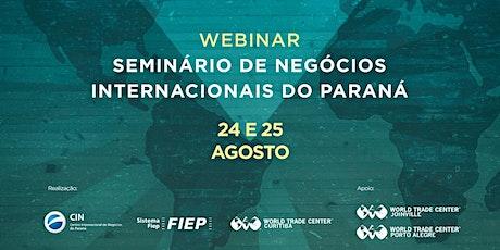 Seminário de Negócios Internacionais do Paraná ingressos