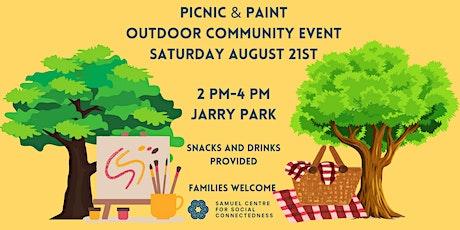 Picnic & Paint: Outdoor Community Event billets